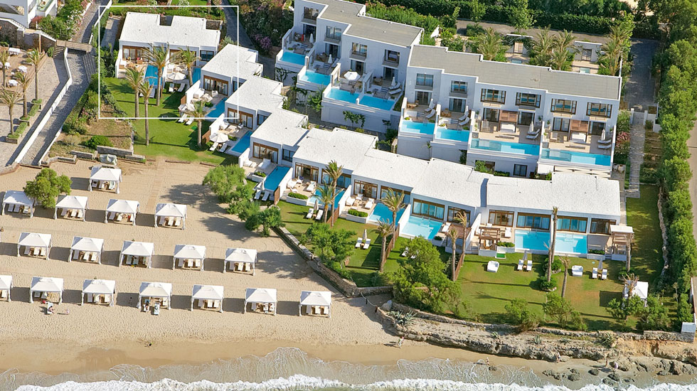 Luxury beach villas in crete amirandes 5 star luxury resort for Design hotel kreta