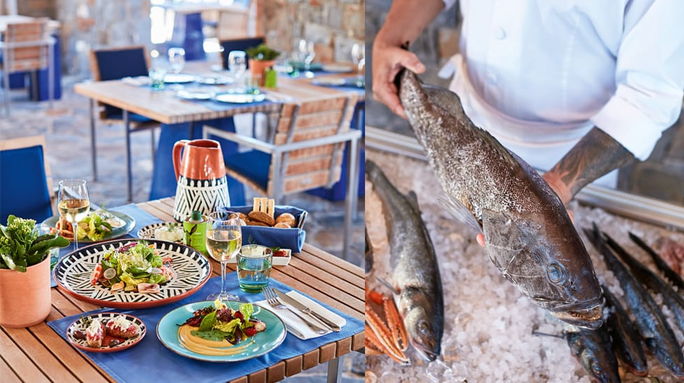 The freshest fish and seafood in Crete