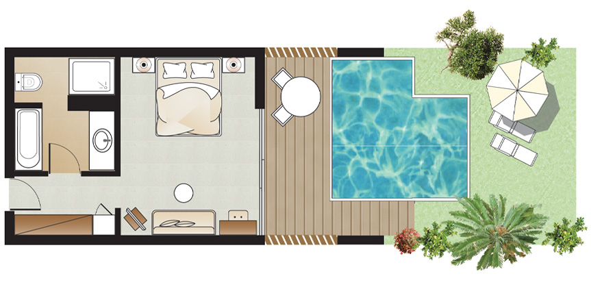 Superior-Guestroom-with-Private-Pool-and-Garden-Floorplan