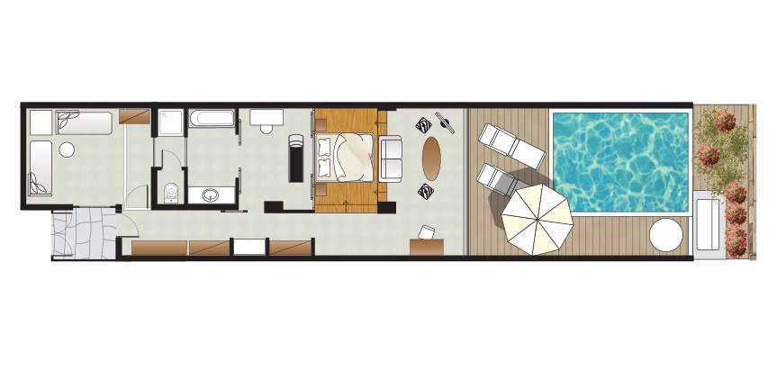 amirandes-vip-2-bedroom-suite-with-gym-and-private-heated-pool-floorplan