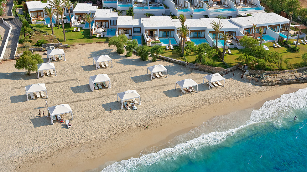 Amirandes crete luxurious beach amenities