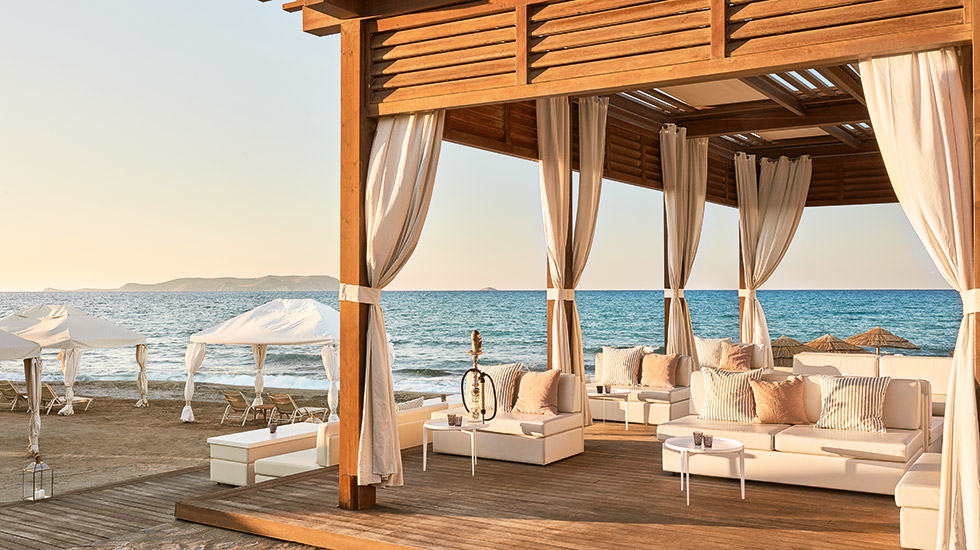 Beachfront private dining